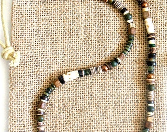 Men's Multicultural Earth Necklace