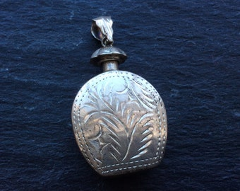 Perfume pendant sterling silver engraved SALE