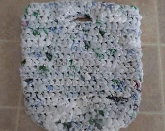 Recycled Plastic Bag Tote; Crochet Market Bag Tote; Recycled Plastic Tote