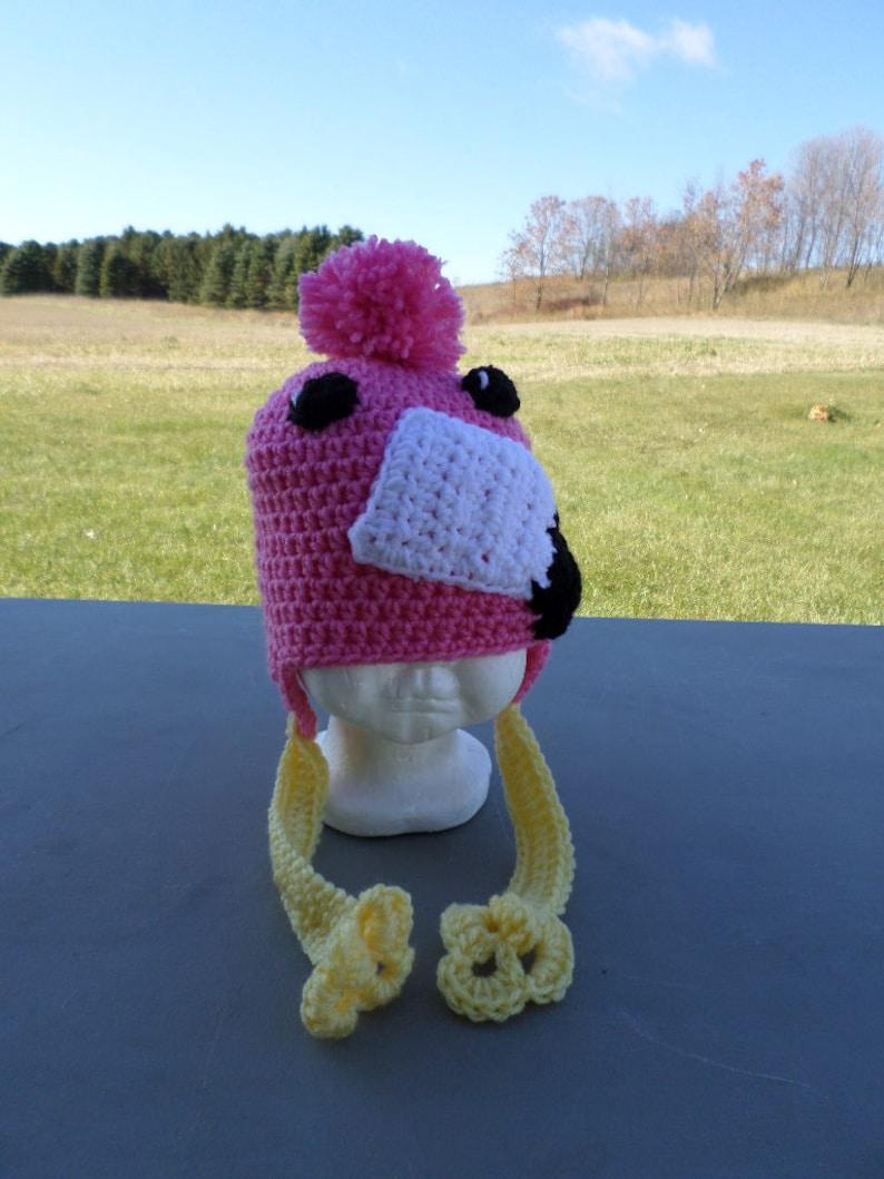Modello di uccelli CAPPELLO FLAMINGO Berretto Per Adulti Rosa Accessorio Costume Donna