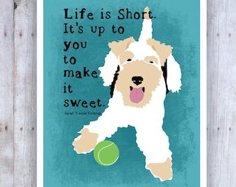 Pit Bull Art Dog Print Dog Artwork Pitbull Mom Dog   Etsy