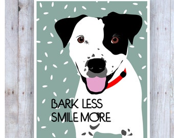 Dog Artwork, Smile More, Smile Poster, Vet Tech Gift, Smile Art, Dog Quotes, Classroom Posters, Veterinarian Gift, Dog Posters, Smile Sign