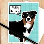 Happy Birthday Card, Dog Birthday Card, Australian Shepherd Card, Congratulations Card, Australian Shepherd, Thank You Card, Graduation Card