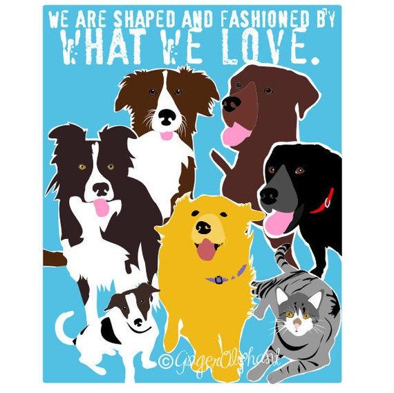 Veterinary Office, Border Collie Art, Animal Rescue, Dog Quote Prints,  Golden Retriever Art, Famous Quotes, Inspirational Pet, Dog Parents