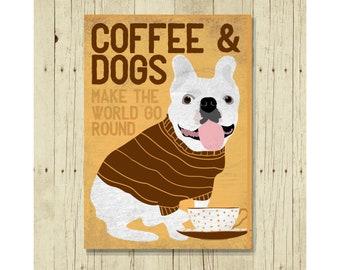 French Bulldog Art, Dog Magnet, Dog Fridge Magnet, Dog Refrigerator Magnet, White French Bulldog, Dog Quotes, Dog Lover Gift, Gifts Under 10