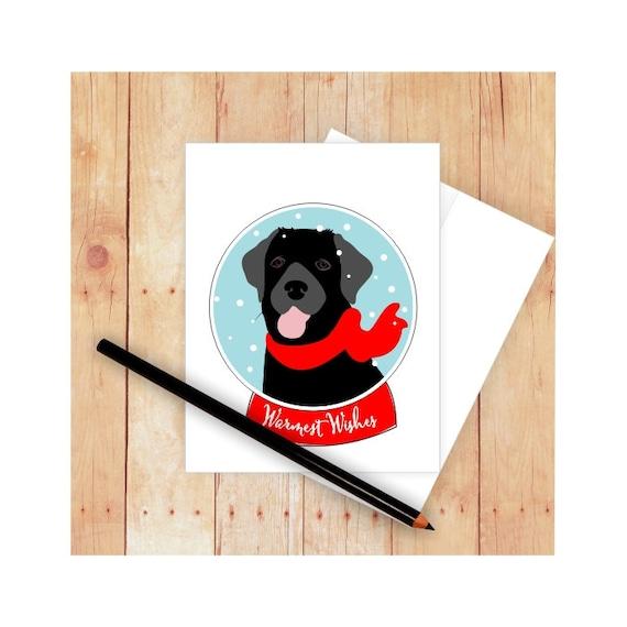 Black Labrador Christmas Card Xmas dog cards sold Individually