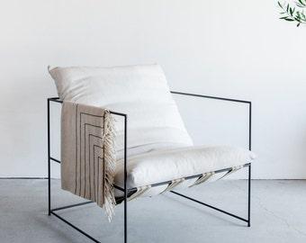 Sierra Chair- Open Steel Frame with Down Cushion