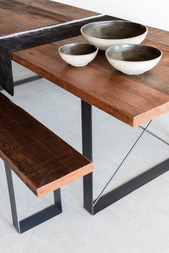 Railcar Dining Table Handmade Reclaimed Wood Dining Table