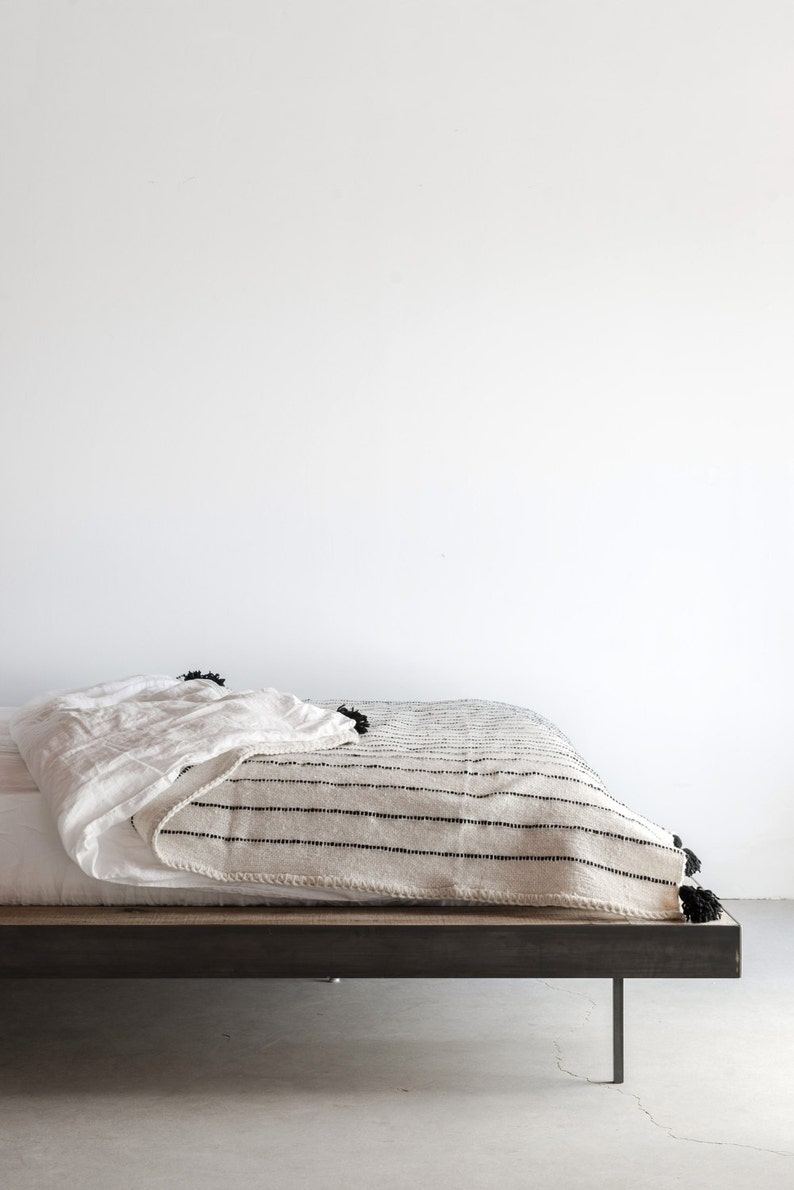 Gorgeous Platform Bed Reclaimed From Old Midwest Barn Etsy