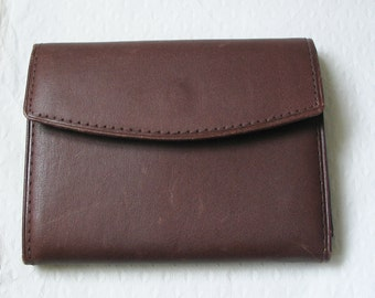 def22c35e2c Vintage photo wallet  Amazing deadstock dark brown real cowhide wallet with  loads of photo pockets