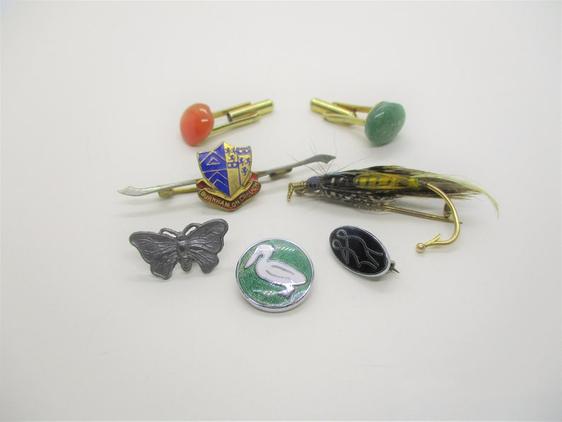 Pin cufflink destash: Destash of 1950s & 1960s costume image 0