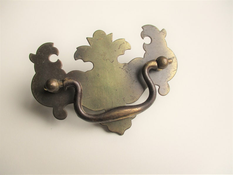 Vintage drawer pull: amazing shabby chic vintage brass drawer image 0