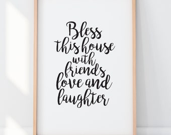 Bless This House Print 8x10 Ready to Frame