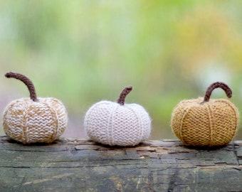 Knitting Pattern - Pumpkin - Autumn Decor - Fall Decor - Knit Pumpkin - Thanksgiving - Halloween - Rustic - Knitted - Pumpkin Pattern