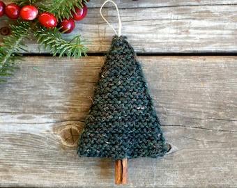 Knitting Pattern, Christmas Tree Ornament, Knitted Christmas ornament, Knit tree ornament, Knit ornament pattern, DIY Christmas ornament,