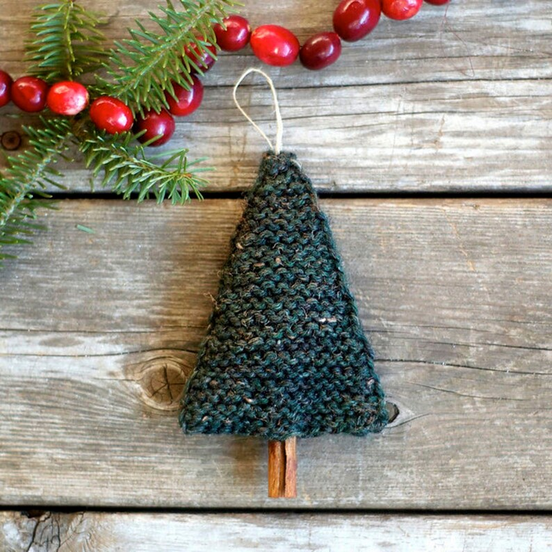 Knitting Pattern Christmas Tree Ornament Knitted Christmas image 0