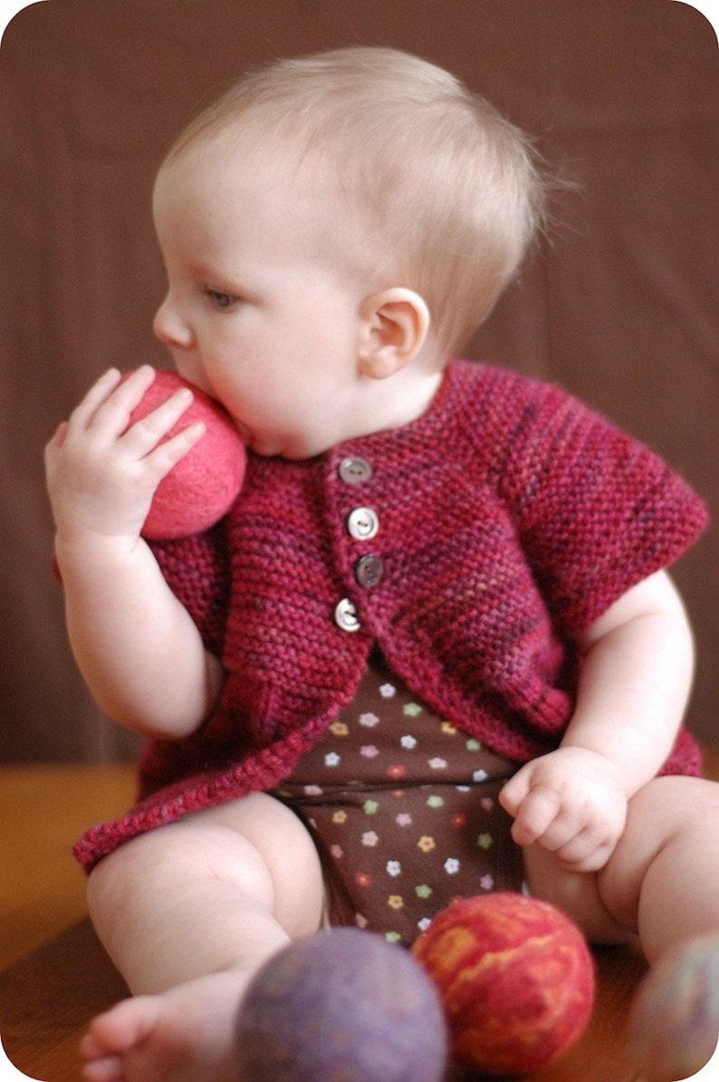 PDF Knitting Pattern  Mira Sweater  Baby Cardigan  Girls image 0