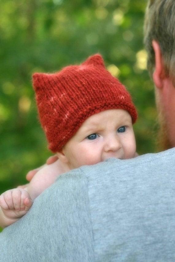 Knitting Pattern Fox Hat Baby Toddler Child Knit Hat  6fb8b2de5ce
