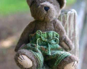 PDF KNITTING PATTERN - Waldorf Doll, Teddy Bear, American Girl Doll Longies - Forest Glen