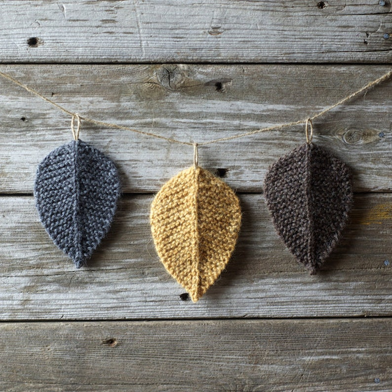 Knitting Pattern  Autumn Leaves  Leaf  Knit Leaves  image 0