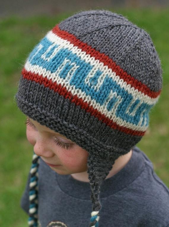 Knitting Pattern Earflap Hat Knit Hat Pattern Knitted Etsy