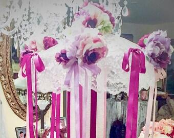 bridal shower umbrella baby shower umbrella centerpiece custom colors wedding centerpiece handmade