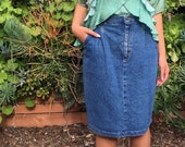 Vintage relaxed fit nineties denim skirt