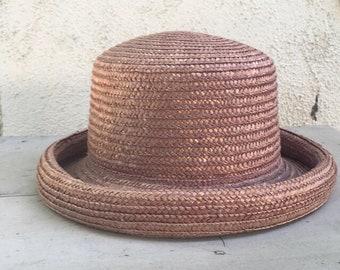 6252ab84 Vintage lavender straw hat