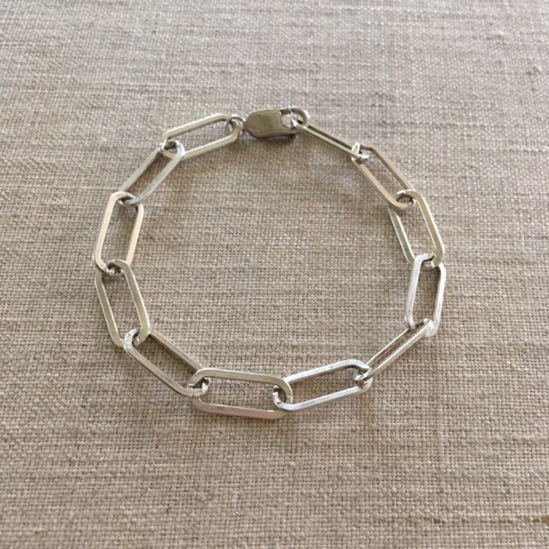 Sterling silver chunky link chain bracelet by Ankh By Racquel image 0