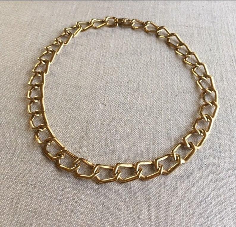 Vintage Monét Gold Chain Necklace image 0