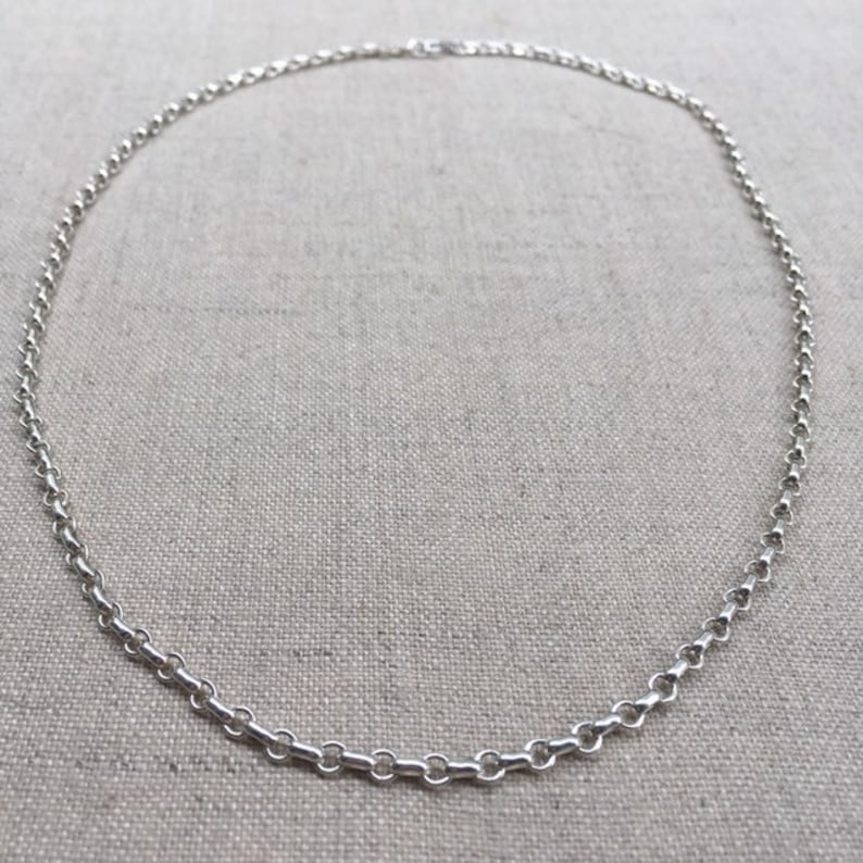 Chic Silver circle link chain necklace 18 image 0