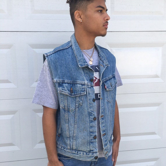 Vintage Levi's faded denim vest