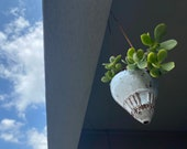 The world is upside down - small ceramic hanging planter (listing price is for one individual vessel)