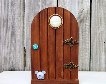 Wooden Fairy Door, Stained, Pretend Play, Fairies, Gift Under 20, Childs Gift, Indoor Fairy Door, Fairy Play, Magical Door, Imaginative Play