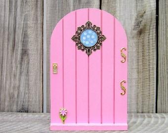 Wood Fairy Door, Pink, Indoor Fairy Door, Childs Gift, Fairy, Pretend Play, Girl Gift, Magical Portal, Miniature Door, Fairy Play