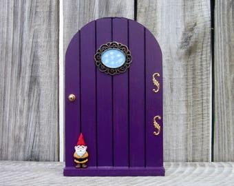 Fairy Door, Wooden Door, Purple, Indoor Fairy Door, Childs Gift, Girl Gift, Fairy, Pretend Play, Magical Portal, Miniature Door, Fairy Play