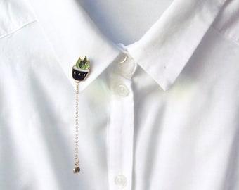 Enamel Pin | Brooch | Haworthia & Rake | Haworthia Pin | Aloe | Kawaii | Cute Pin | Instagram | Gift Under 10 | Fashion Accessory
