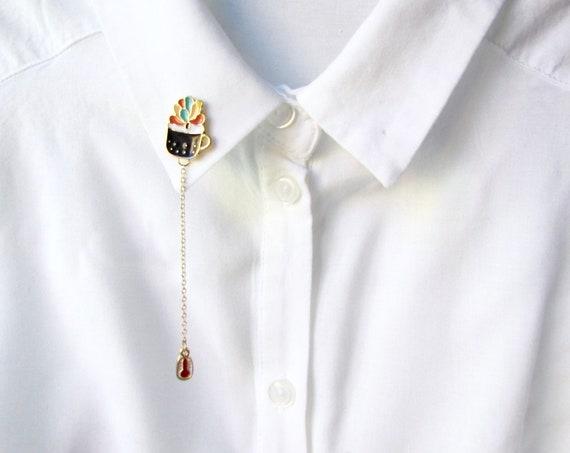 Enamel Pin Brooch | Cute Succulent Pin | Crassula Pigmyweeds | Gift Idea | Fashion Accessory