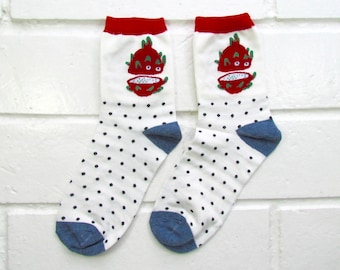 Socks | Womens Socks | Novelty Socks | Funny Socks | Cute Socks | Women Novelty Socks | Gifts Idea | Crazy Socks | Dragon Fruit