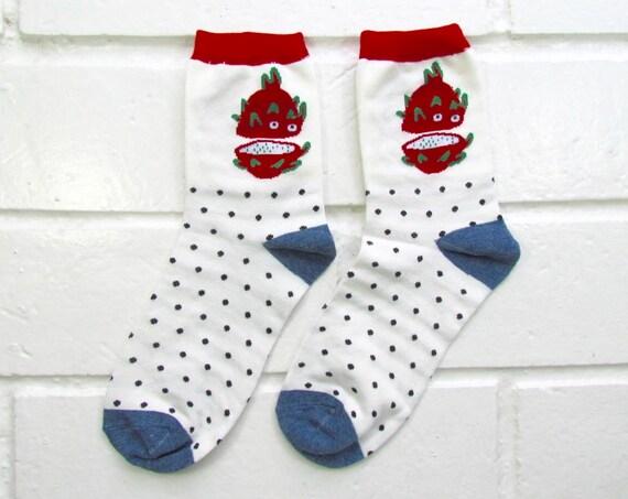 Socks | Womens Socks | Novelty Socks | Funny Socks | Cute Socks | Women Novelty Socks | Gifts Idea | Crazy Socks | Dragon Fruit