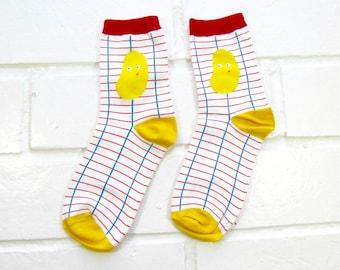 Socks | Womens Socks | Novelty Socks | Funny Socks | Cute Socks | Women Novelty Socks | Gifts Idea | Crazy Socks | Mango Fruit