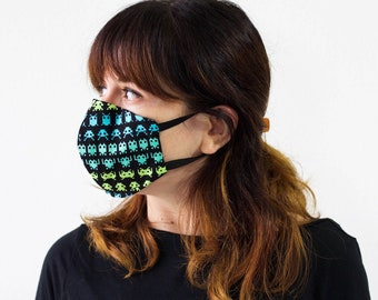 Triple Layer Face Mask with Adjustable Nose Wire | Face Covering| Washable| Reusable| 100% Cotton | Unisex | Elastic Band | Adult