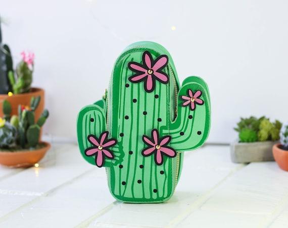 Novelty Cactus Shoulder Crossbody Handbag   Chain Purse Shoulder Bag   Cactus Green Color Handbag   Kawaii Purse   3D Succulent Bag