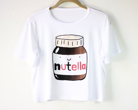 Nutella Graphic Tee | Women's Foodie Shirt | Nutella Chocolate Lover Crop Top | Gift Idea | Size SMALL/MEDIUM ONLY