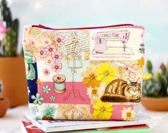 Makeup Bag   Zipper Pouch   Pencil Pouch   Toiletry Bag   School Supplies   Handmade   Gift Idea   Cosmetic Bag   Homemaking