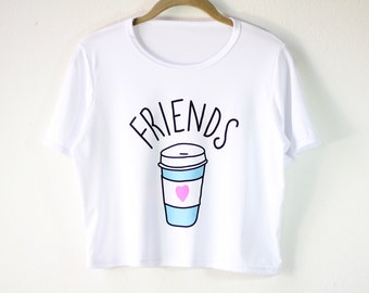 Shirt | White Shirt | Women's Shirts | Graphic Tees | Funny T Shirts | Gift for Girls | Gift Idea | Size SMALL/MEDIUM ONLY | Coffee Cup