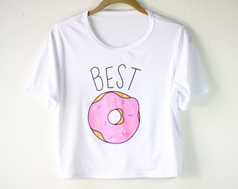 Shirt | White Shirt | Women's Shirts | Graphic Tees | Funny T Shirts | Gift for Girls | Gift Idea | Size SMALL/MEDIUM ONLY | Donut