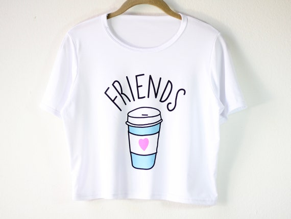 Coffee Graphic Tee | Women's Shirts | Coffee Lover Crop Top | Funny Matching Shirt | Bff Gift for Her | Gift Idea | Size SMALL/MEDIUM ONLY