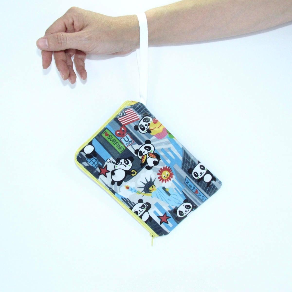 Wristlet Wallet Pandas In New York City Handmade