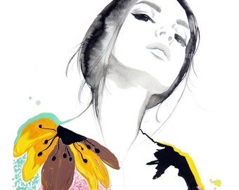 Very Valentino, print from original fashion illustration by Jessica Durrant